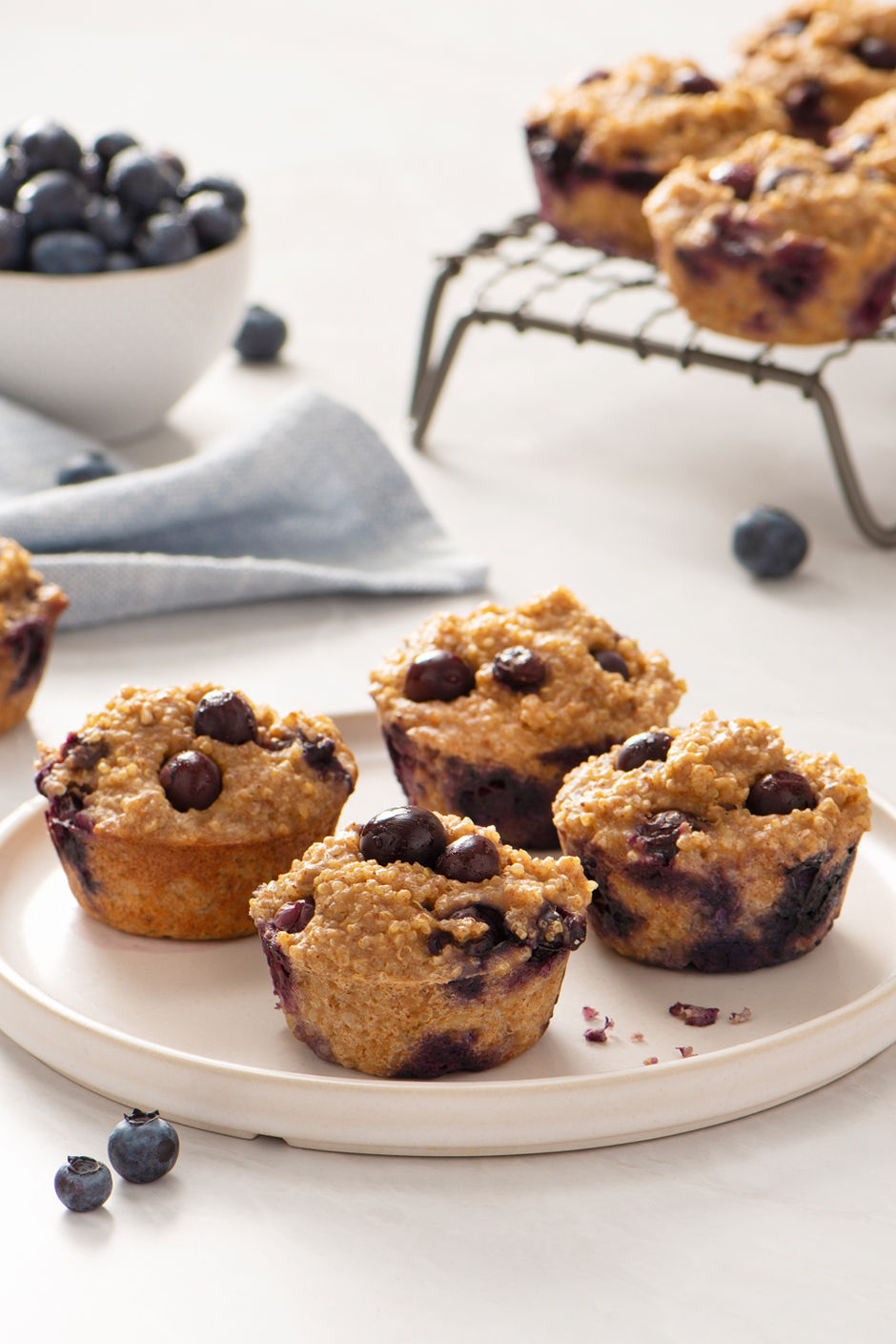5 Ingredient Blueberry Protein Muffins