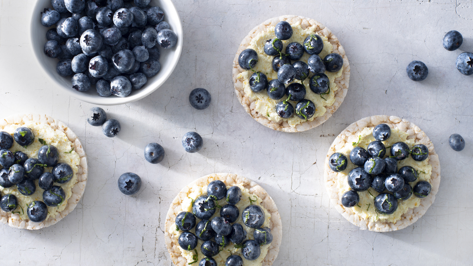 Blueberry Lemon Ricotta Rice Cakes