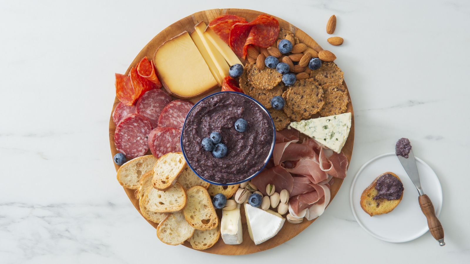 Charcuterie Board w Blueberry Almond Butter-019