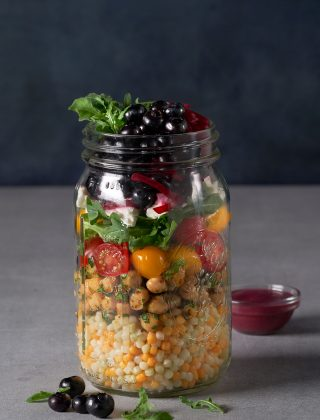 Pickled Blueberry Couscous Salad