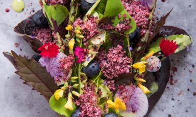Wedge Salad with granita