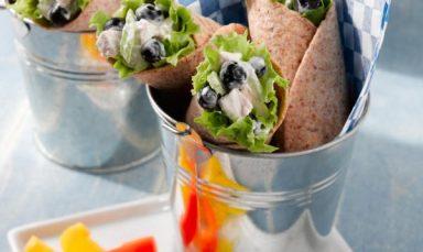 Blueberry Chicken Salad Wraps